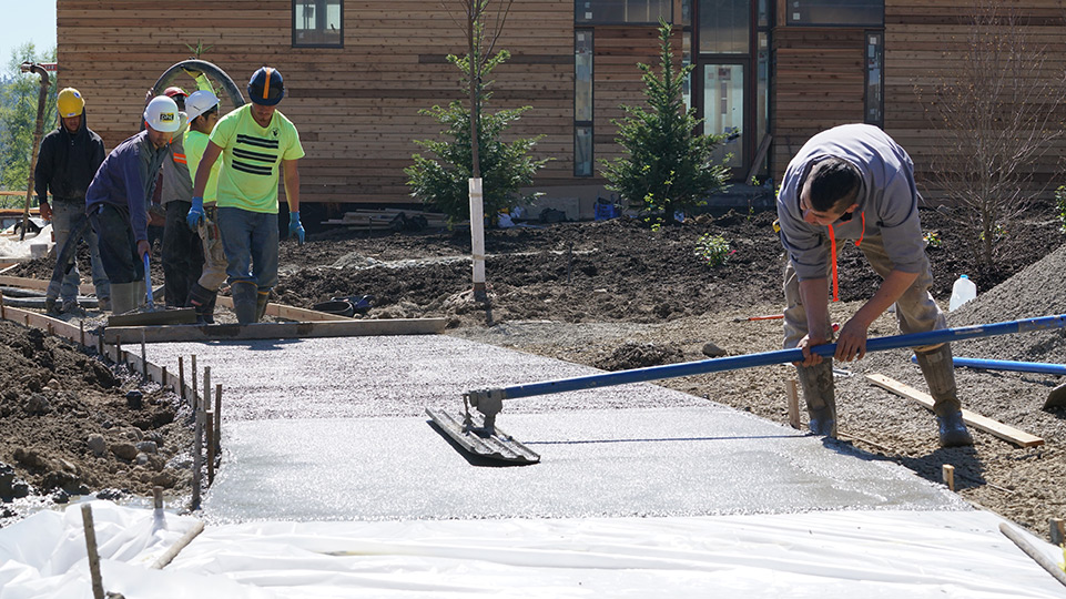 Smoothing the concrete path