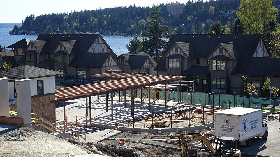 Pool at Pleasant Beach, Coast to Coast Concrete Construction works on concrete patio surrounding pool